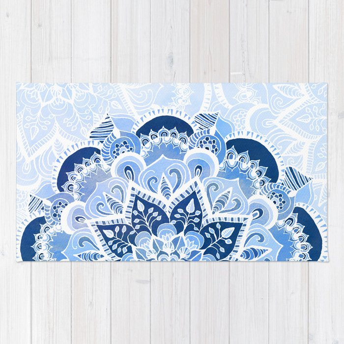 Lacy Blues Rug