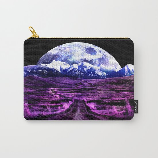 Highway to Eternity (moon mountain) Fuchsia Carry-All Pouch