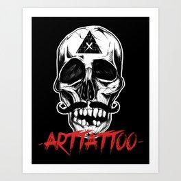 Skull Arttattoo Art Print
