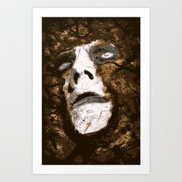 Digging Art Print