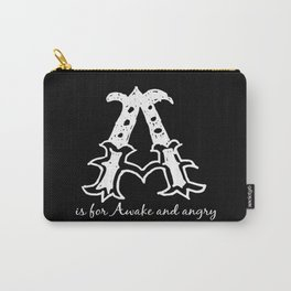 In Black - A is for... Carry-All Pouch