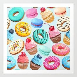 Delicious Desserts Art Print