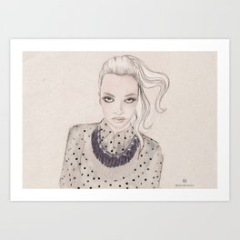 Wearing dots and studs Art Print