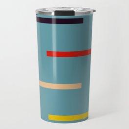 Abstract Retro Stripes Miranda Travel Mug