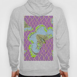 CHARTREUSE-WHITE EXOTIC BUTTERFLY Hoody