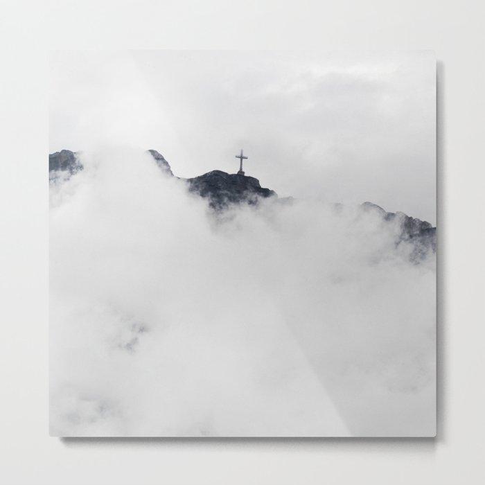 Foggy Faith Metal Print