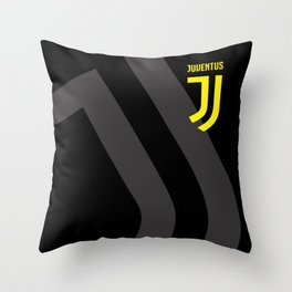 JUVENTUS Black Throw Pillow