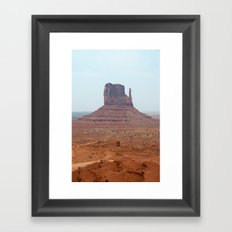 The cruel, uneventful state of apathy releases me Framed Art Print