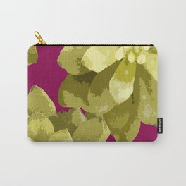 Succulent Plants On A Burgundy Background #decor #buyart #society6 Carry-All Pouch