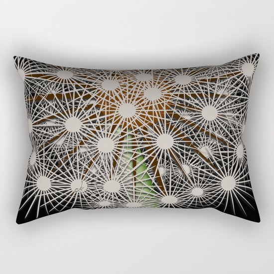 Abstract Dandilion Seeds Rectangular Pillow