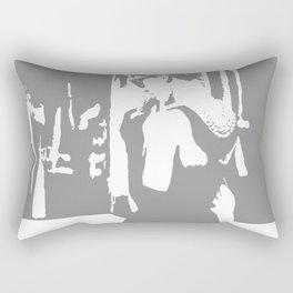Audrey Hepburn in Breakfast at Tiffany's, black white art, monochrome art, classic movie scenes Rectangular Pillow