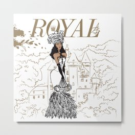 Kayla Royal Metal Print