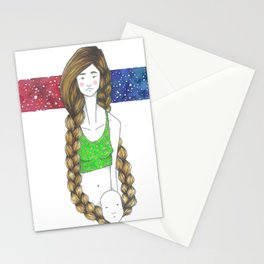 universes of colors and characters Stationery Cards