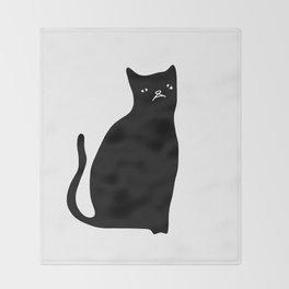 Mash the Cat Throw Blanket