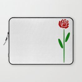 Single Long Stemmed Red Rose Laptop Sleeve