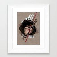 helen green Framed Art Prints featuring HELEN by CABINET