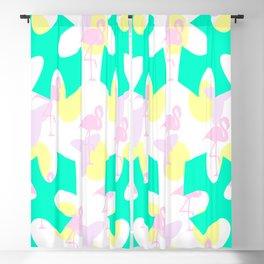 Flamingo vibrant motif Blackout Curtain