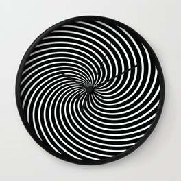 BLACK LICORICE SWIRL Abstract Art Wall Clock