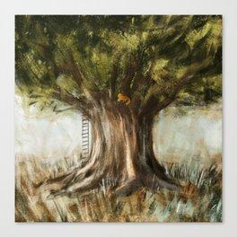 little fox on tree Canvas Print