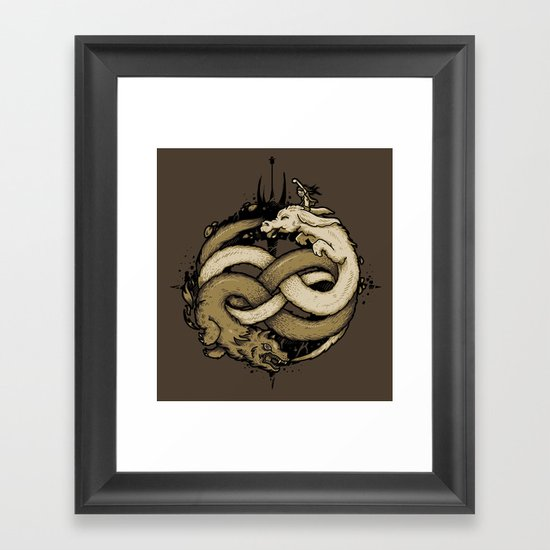 NEVERENDING FIGHT Framed Art Print