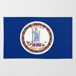 flag virginia,america,usa,south,Dominion,Mother of Presidents,Mother of States,Pocahontas Rug