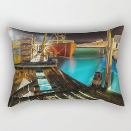 Light in the Wharf Rectangular Pillow