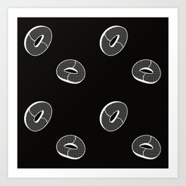 Peach Rings (inverse) Art Print
