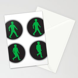 Traffic Light Man Walk Cycle Sequence Stationery Cards