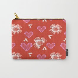 Valentine's Day Love Pattern Carry-All Pouch
