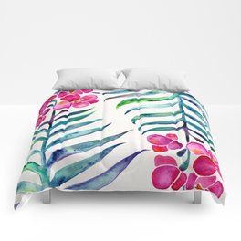 Blooming Orchid – Fuchsia & Indigo Palette Comforters