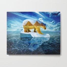 A Polar Bear Dreams of the Desert Metal Print