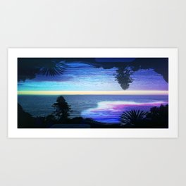 Circle Sunset Art Print