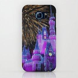 Disney Magic Kingdom Fireworks at Christmas - Cinderella Castle iPhone Case