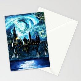 Starry Night Hogwarts Stationery Cards