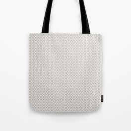 Hexagon Light Gray Pattern Tote Bag