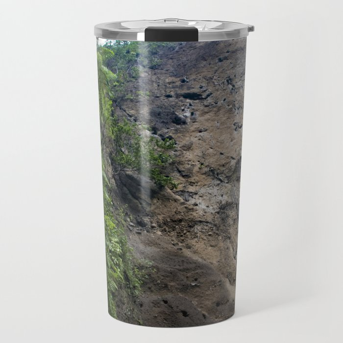 Thin Waterfall Cascading in the Rainforest of the Chocoyero-El Brujo Nature Reserve in Nicaragua Travel Mug