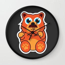 Fire Bear Wall Clock