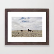 San Juan Horse Run Framed Art Print
