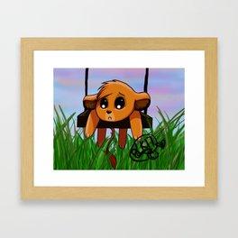 Chibi Simba Framed Art Print