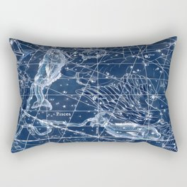 Pisces sky star map Rectangular Pillow