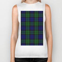 Scottish Campbell Tartan Pattern-Black Watch #1 Biker Tank