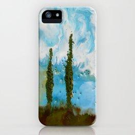 Tuscan Sunset original Encaustic wax painting by Seasons Kaz Sparks iPhone Case