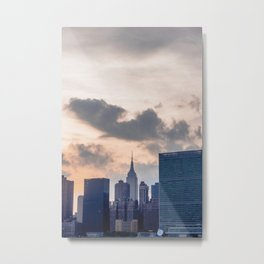 Manhattan Sunsets Metal Print