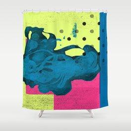 Halftone Highlighter Shower Curtain
