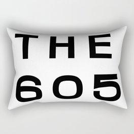 605 South Dakota Area Code Typography Rectangular Pillow