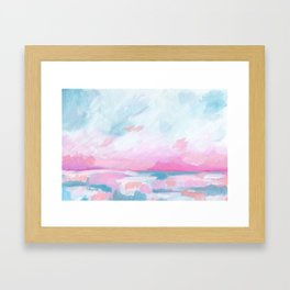 Euphoria - Bright Ocean Seascape Framed Art Print