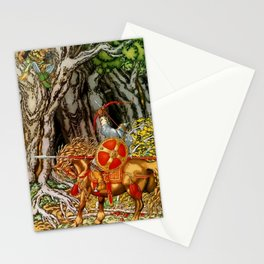 """""""Ilya and the Nightingale Robber"""" by Ivan Bilibin Stationery Cards"""
