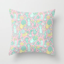 Cute Cephalopods Throw Pillow
