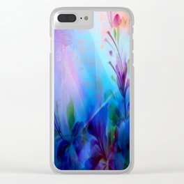 Sunset Painterly Floral Clear iPhone Case