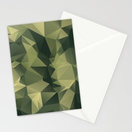 Low-poly camoflauge pattern Stationery Cards